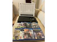 Sony PS4 SLIM console, V2 controller plus 11 games - Boxed -£185