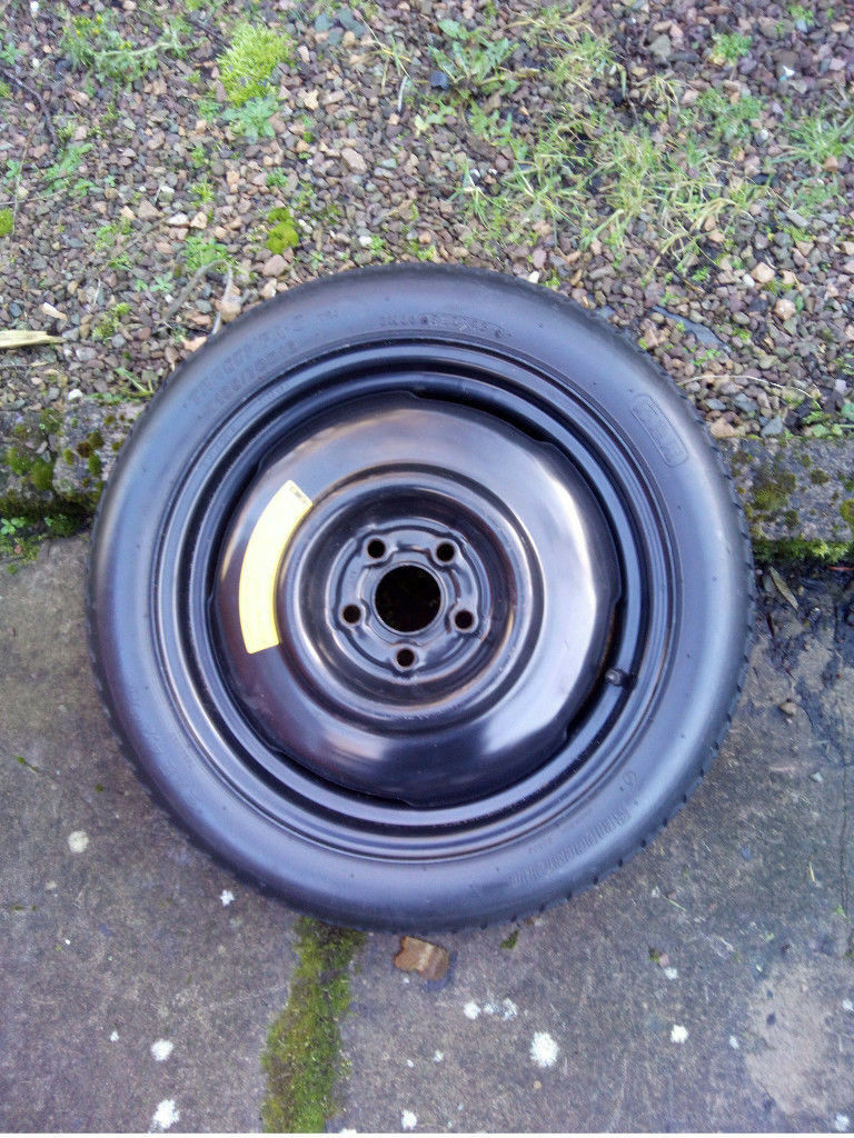 Two Spare Wheels with Tyres - Good Condition.
