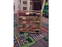 Wooden alphabet & abacus