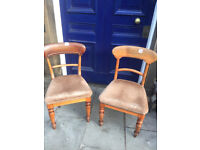 Pair of Mahogany Chairs , good condition and quality . Must be seen.. Free Local Delivery £75 each