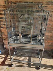 Large size bird cage with base