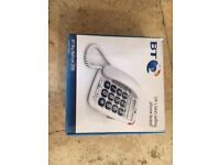 NEW BT Big Button 200 phone - very suitable if you have impaired sight and very easy to use