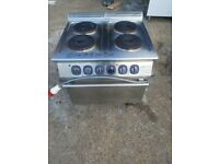 Electrolux 4 hobs electric cooker with oven commercial 3 phase electric cooker