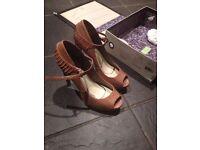 Leon Max Designer Snake skin Leather peep toe mary jane double platform Kudos pumps!! SALE £50