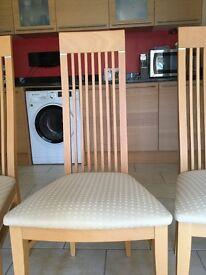 Dining Room Chairs light wood veneer