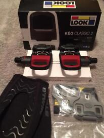 Keo classic 2 limited edition pedals & cleats also b twin overshoes