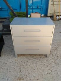 Grey 3 drawer chest of drawers in excellent condition. Can deliver free