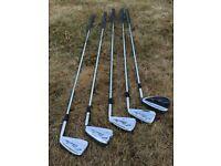 Mizuno Silver cup golf clubs. irons 4, 5, 6, 7, S