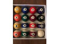 2'' Spots and Stripes Pool Balls