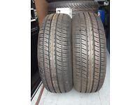 2x 175/70/13 Runway Enduro tyres