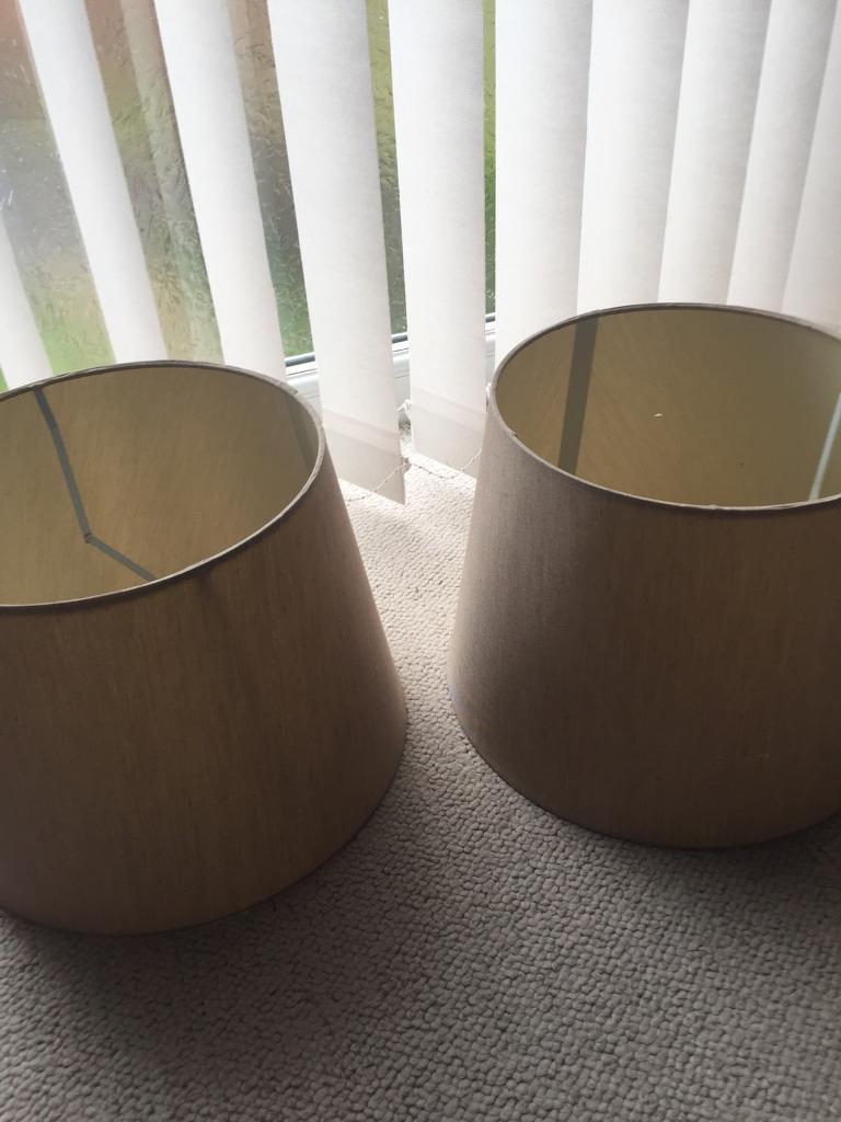 Two lamp shades