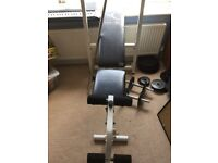 Domyos BM110 bench with weights