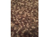 100% wool brown jellybean rug