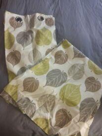Dunelm Green Leaf Curtains (2 pairs)