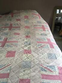 Single Bed Quilt ( Pink Union Jacks )