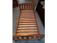 John Lewis cotbed, over cot changing unit, and chest of drawers. Boori underbed storage drawer