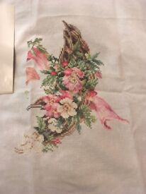 Partially completed cross stitch