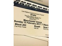 Drake Music @Manchester Arena 12th Feb 2017. One ticket for sale