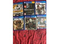 Small bundle of PS4 games swap for PS4 games or Xbox one games
