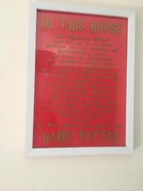 Harry Potter plaque