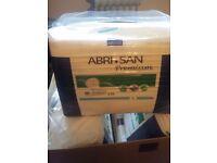 abri-san premium incontinence pads ,7 packs unopened