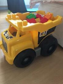 Toddler car dump truck with blocks