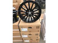 """4 18"""" alloy wheels alloys rims tyre tyres 5x108 Ford Focus mondeo transit connect"""