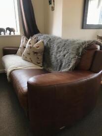 Vintago Aniline (real) leather sofa and armchair