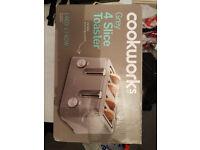 Cookworks 4 Slice Toaster