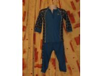 Two Piece Childs Trespass Playsuit Blue. Age 3-4yrs,