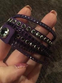 Genuine Swarovski Slake Purple Bracelet / Cuff (New)
