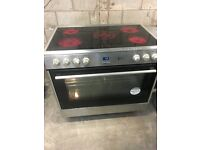 Flavel FL95CRX 90cm Electric Range Cooker With Ceramic Hob Stainless Steel