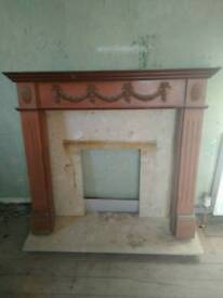 Free fire place surrounding