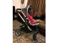 1 Year Old Icandy Peach Limited Edition Berry Bon Bon with Adapters AND Maxi Cosi Car Seat