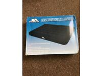 Trespass Double Flocked Airbed + Foot pump 3l
