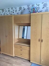 Lovely dressers and 2 wardrobes