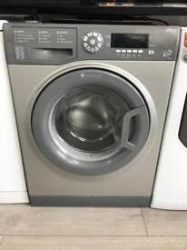 Grey Hotpoint 9kg Washing Machine
