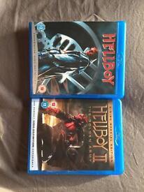 Hellboy 1 and 2 blu ray.