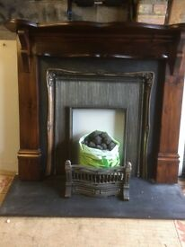 Fire surround and gas fire basket