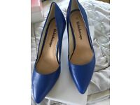 Blue high heel shoes size5