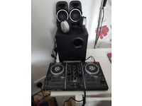 Numark party mix 2 with headphones and speakers. Brand new used once