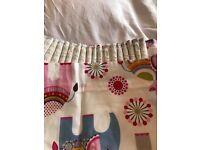 Second hand John Lewis Nursey Curtains - pink elephants