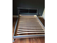 Stylish Modern Style Double Bed Frame Only For Sale