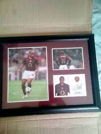 SIGNED THIERRY HENRY FRAME