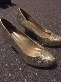 Dorothy Perkins gold heel shoes