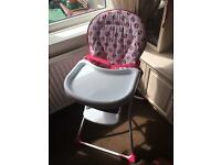 Minnie Mouse high chair