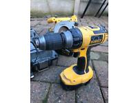 Dewalt 18v hammer drill and circular saw