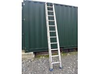 Industrial aluminium 2 section ladders very strong.