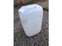 25L water container