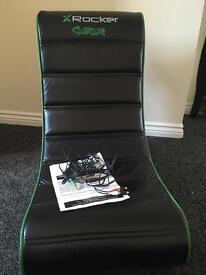 X rocker curve chair